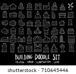 doodle sketch type of building... | Shutterstock .eps vector #710645446