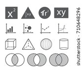 math icon concept  area square... | Shutterstock .eps vector #710648296