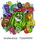 cartoon vector illustration of... | Shutterstock .eps vector #710649094