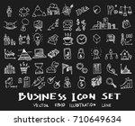 business doodles sketch vector... | Shutterstock .eps vector #710649634