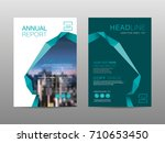 annual report brochure layout... | Shutterstock .eps vector #710653450
