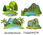 background scenes with forest... | Shutterstock .eps vector #710659579