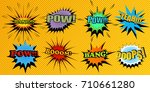 set of colorful comic speech... | Shutterstock .eps vector #710661280