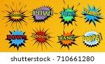set of colorful comic speech... | Shutterstock .eps vector #710661280
