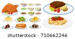 different types of food on... | Shutterstock .eps vector #710662246
