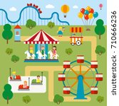 adventure park holiday flat... | Shutterstock .eps vector #710666236