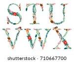 cute vintage hand drawn rustic... | Shutterstock .eps vector #710667700