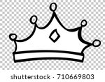hand draw skecth of crown  at... | Shutterstock .eps vector #710669803