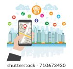 life in a smart city  smart... | Shutterstock . vector #710673430