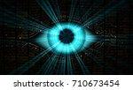 big brother electronic eye... | Shutterstock . vector #710673454