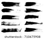 collection of artistic grungy... | Shutterstock . vector #710675908