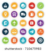 transport icons | Shutterstock .eps vector #710675983