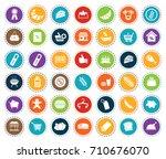 supermarket icons | Shutterstock .eps vector #710676070