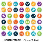 tools icons | Shutterstock .eps vector #710676163