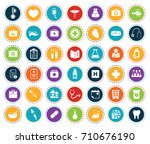 medical icons | Shutterstock .eps vector #710676190