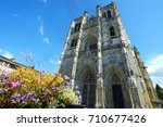 st vulfran collegiate church ... | Shutterstock . vector #710677426
