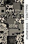 geometric pattern.. black anc... | Shutterstock . vector #710677990
