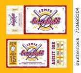 template for baseball ticket.... | Shutterstock .eps vector #710683204