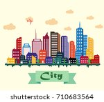vector illustration of colorful ... | Shutterstock .eps vector #710683564
