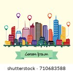 vector illustration of colorful ... | Shutterstock .eps vector #710683588