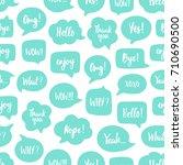 trendy color speech bubbles... | Shutterstock .eps vector #710690500