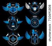 vector classy heraldic coat of... | Shutterstock .eps vector #710691808