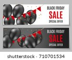 black friday sale banner... | Shutterstock .eps vector #710701534