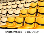 old and new yellow seat in... | Shutterstock . vector #71070919