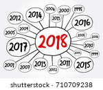 2018 happy new year and... | Shutterstock .eps vector #710709238