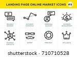 flat line design concept icons... | Shutterstock .eps vector #710710528