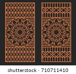 laser cutting set. wall or... | Shutterstock .eps vector #710711410