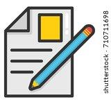 application vector icon | Shutterstock .eps vector #710711698