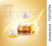 gold caviar collagen serum and... | Shutterstock .eps vector #710714704