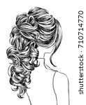women charming hairstyles long... | Shutterstock .eps vector #710714770