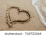 Heart On The Sand Beach....