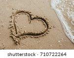 Heart On The Sand Beach....