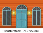 vector flat icons windows and... | Shutterstock .eps vector #710722303