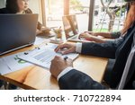business people meeting at... | Shutterstock . vector #710722894