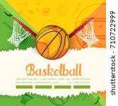basketball event poster... | Shutterstock .eps vector #710722999