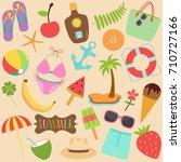 cute vector illustration set of ... | Shutterstock .eps vector #710727166