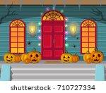 vector illustration of a night...   Shutterstock .eps vector #710727334