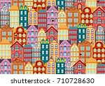 seamless vector pattern with... | Shutterstock .eps vector #710728630