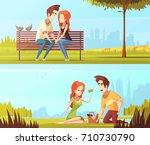 couple in love horizontal... | Shutterstock .eps vector #710730790