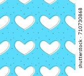 flat line heart pattern vector    Shutterstock .eps vector #710730868