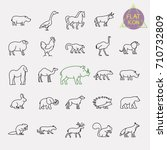 animals line icons set | Shutterstock .eps vector #710732809