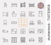 interiors furniture line icon... | Shutterstock .eps vector #710732818
