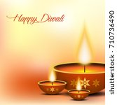 illustration of happy diwali... | Shutterstock .eps vector #710736490