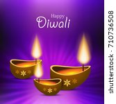 illustration of happy diwali... | Shutterstock .eps vector #710736508