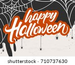 creative and scary background... | Shutterstock .eps vector #710737630
