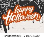 halloween typographic banner... | Shutterstock .eps vector #710737630
